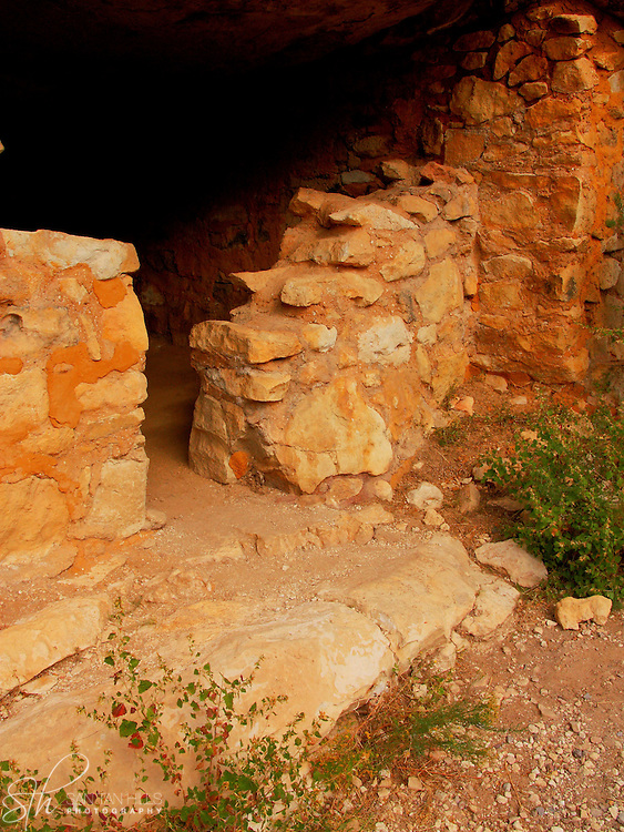 Remnants of ancient dwellings in Walnut Canyon