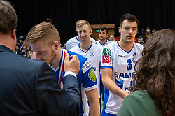 12-05-2019 NED: Abiant Lycurgus - Achterhoek Orion, Groningen<br /> Final Round 5 of 5 Eredivisie volleyball, Orion wins Dutch title after thriller against Lycurgus 3-2 / Stijn Held #3 of Lycurgus