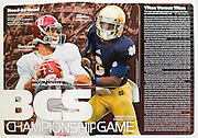 Sports action photo of Alabama Quarterback AJ McCarron used in the Sports Illustrated BCS Bowl Guide