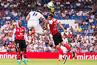 Real Madrid's player Gareth Bale and Stade de Reims's player Da Cruz and Bouhours during the XXXVII Santiago Bernabeu Trophy in Madrid. August 16, Spain. 2016. (ALTERPHOTOS/BorjaB.Hojas)