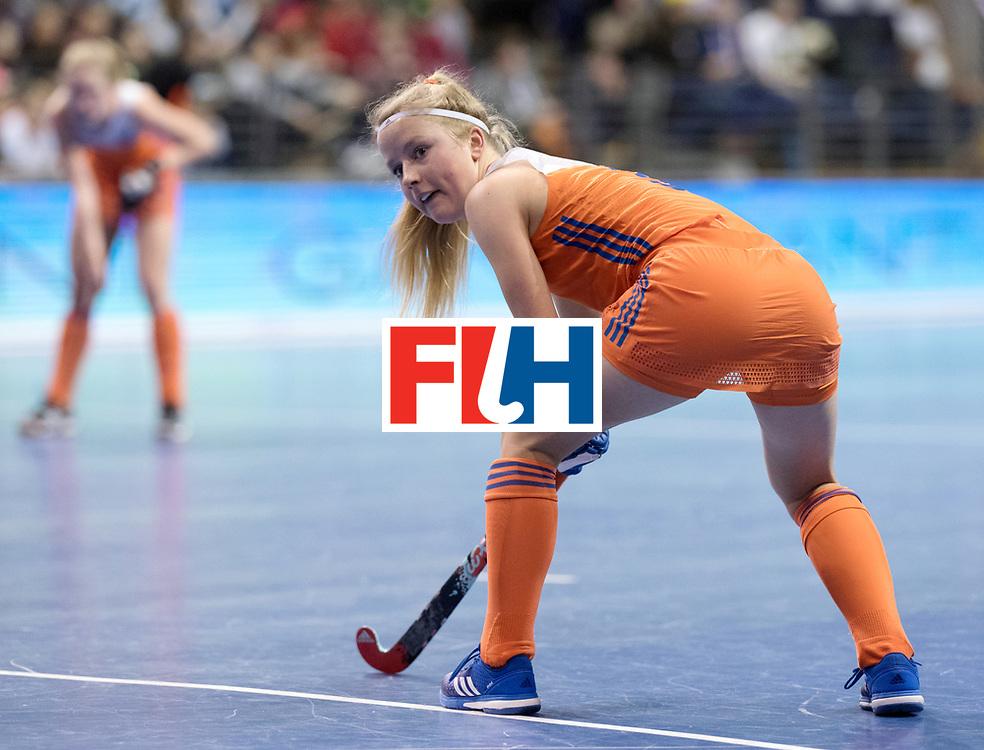 BERLIN - Indoor Hockey World Cup<br /> Quarterfinal 4: Netherlands - Czech Republic<br /> foto: Gabrielle Mosch.<br /> WORLDSPORTPICS COPYRIGHT FRANK UIJLENBROEK