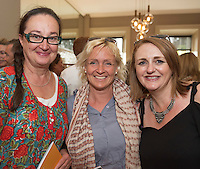 Mona Sares, Diane Dodd, Jacinta Dalton, European Region of Gastronomy judges  at the launch of the Galway International Arts Festival programme at the Gaslight Bar, Hotel Meyrick. The Festival will run from the 11th to the 24th of July 2016 . Photo:Andrew Downes