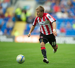 CARDIFF, WALES - Sunday, August 8, 2010: Sheffield United's Jamie Ward during the League Championship match at the Cardiff City Stadium. (Pic by: David Rawcliffe/Propaganda)