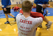 2006.02.02 HILLSBOROWRESTLER SPORTS : Hillsboro sophomore wrestler Dustin Carter might actually live by the saying on his shirt as he waits for his match against Wilmingon at Amelia High SchoolThursday February 2, 2006. The Enquirer/Jeff Swinger