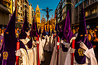 Procession of Brotherhood (Hermandad) de San Benito, Holy Week (Semana Santa), Seville, Andalusia, Spain.