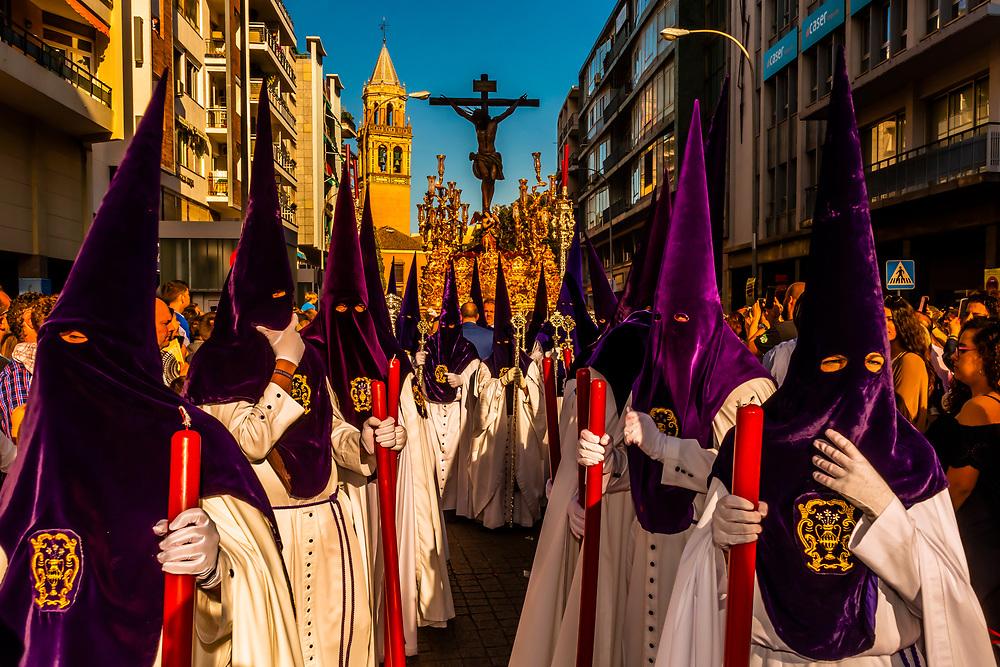 Procession of Brotherhood (Hermandad) de San Benito, Holy Week (Semana Santa), Seville, Andalusia, Spain.