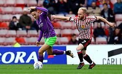 Josh Brownhill of Bristol City goes past Jonathan Williams of Sunderland - Mandatory by-line: Robbie Stephenson/JMP - 28/10/2017 - FOOTBALL - Stadium of Light - Sunderland, England - Sunderland v Bristol City - Sky Bet Championship
