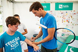 Kids day with Aljaz Bedene and Blaz Rola of Slovenia during Day 9 of ATP Challenger Zavarovalnica Sava Slovenia Open 2019, on August 17, 2019 in Sports centre, Portoroz/Portorose, Slovenia. Photo by Vid Ponikvar / Sportida