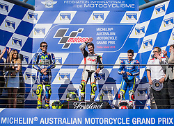 October 23, 2016 - Melbourne, Victoria, Australia - British rider Cal Crutchlow (#35) of LCR Honda waves to the crowd after winning the MotoGP category race at the 2016 Australian MotoGP held at Phillip Island, Australia. (Credit Image: © Theo Karanikos via ZUMA Wire)