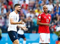 Olivier Giroud (France) and Mathias Jorgensen (Denmark) <br /> Moscow 26-06-2018 Football FIFA World Cup Russia  2018 <br /> Denmark - France / Danimarca - Francia<br /> Foto Matteo Ciambelli/Insidefoto