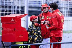 March 1, 2019 - Barcelona, Barcelona, Spain - Mattia Binotto  Ferrari Team Chief talking with John Elkann CEO of Exor and his son Leone Mos Elkann portrait during the Formula 1 2019 Pre-Season Tests at Circuit de Barcelona - Catalunya in Montmelo, Spain on March 1. (Credit Image: © Xavier Bonilla/NurPhoto via ZUMA Press)