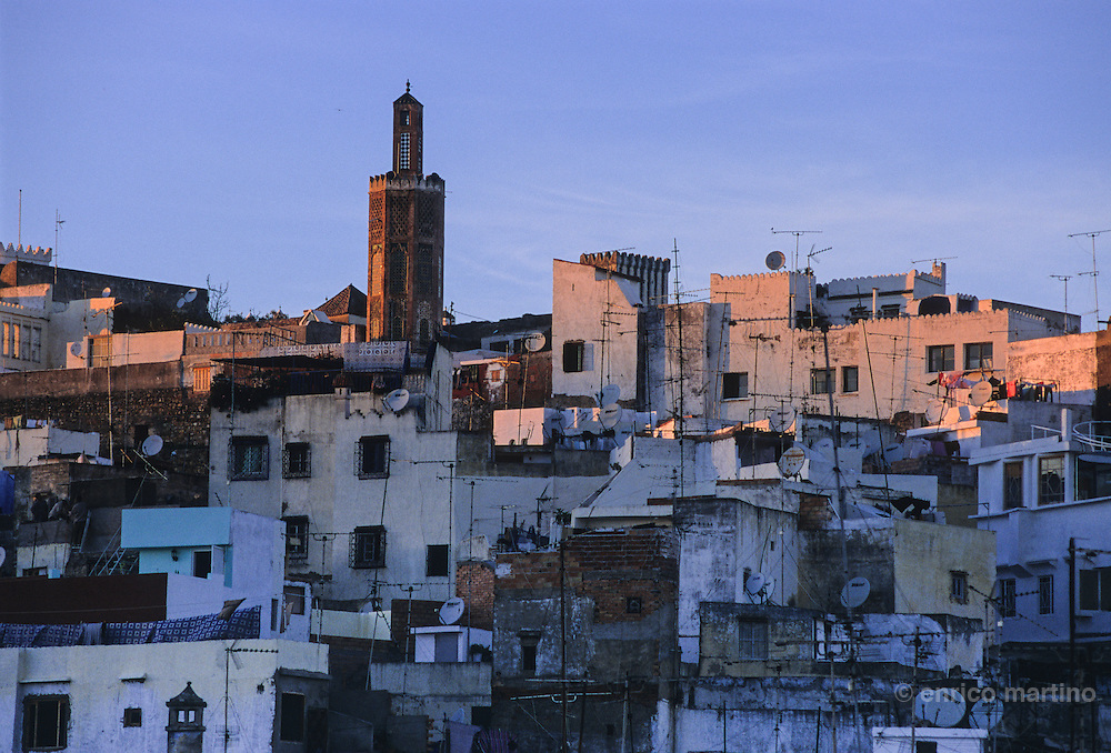 Tangier, the medina, in the back the casbah.