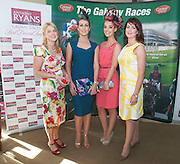 07/07/2014  Repro free Audrey Kinahan , University Pharmacy , Catwalk models, Mary Lee, and Katie Brill  with Cora Cassidy Anthony Ryans  at the launch of the Galway Races Summer Festival at the Radisson Blu Hotel Galway. Photo:Andrew Downes