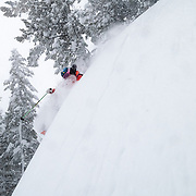 Jim Ryan finds inbounds powder in the Hobacks of JHMR.