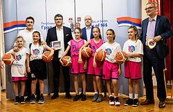 Darko Bulatović, Luc Vergoossen of FIBA during Reception of Women's Eurobasket 2019 teams and FIBA officials at Mayor of City of Nis, on June 29, 2019 in City hall, Nis, Serbia. Photo by Vid Ponikvar / Sportida