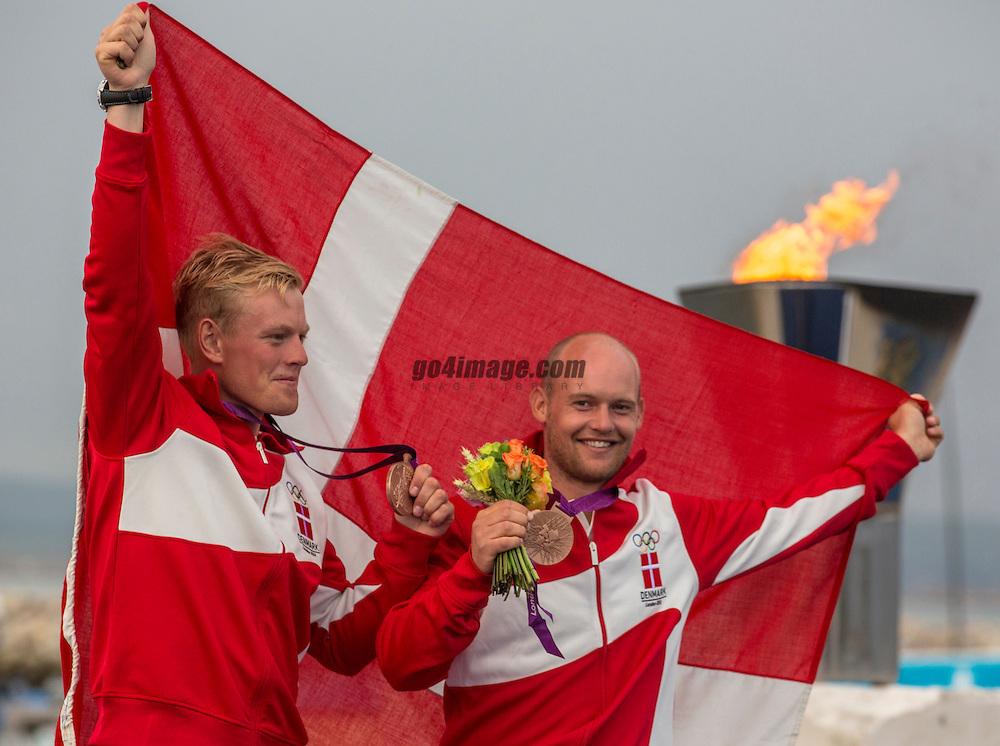 BRONZE:<br /> Lang Peter, Norregaard Allan, (DEN, 49er)<br /> <br /> 2012 Olympic Games <br /> London / Weymouth