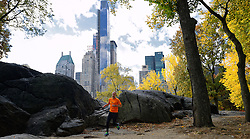 02-11-2013 ALGEMEEN: BVDGF NY MARATHON: NEW YORK <br /> Parcours verkenning en laatste training in het Central Park / Tino<br /> ©2013-FotoHoogendoorn.nl