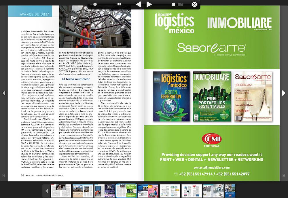Fotograf&iacute;as del Biomuseo &quot;Puente de Vida&quot; en Panam&aacute;, publicadas en la Revista Construcci&oacute;n y Tecnolog&iacute;a en Concreto de M&eacute;xico<br /> <br /> Photography by Aaron Sosa - M&eacute;xico 2012