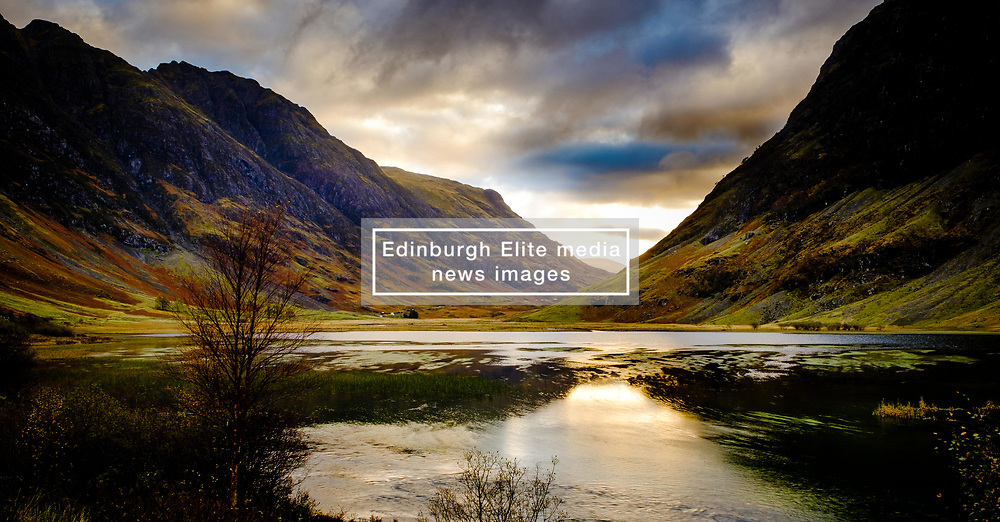 Early morning light on Loch Achtriochtan in Glencoe, Highlands of Scotland<br /> <br /> (c) Andrew Wilson | Edinburgh Elite media