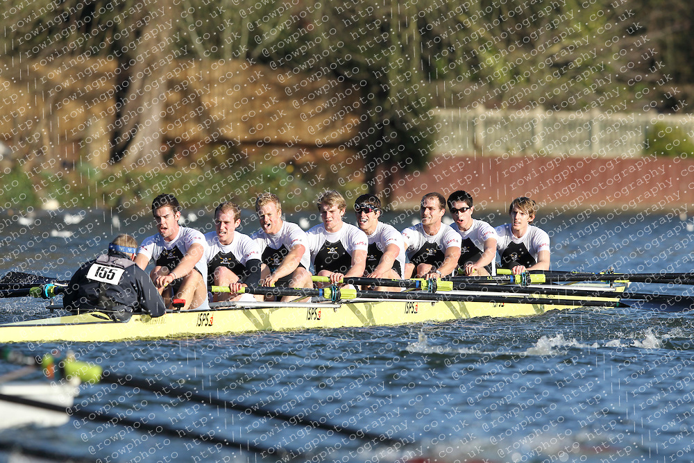 2012.02.25 Reading University Head 2012. The River Thames. Division 2. Molesey Boat Club Sen 8+