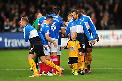 TEAM LINE UP, Cambridge United v Portsmouth, Abbey Stadium Sky Bet Football League Two, Saturday 29th October 2016<br /> Score 0-1 (Chaplin)
