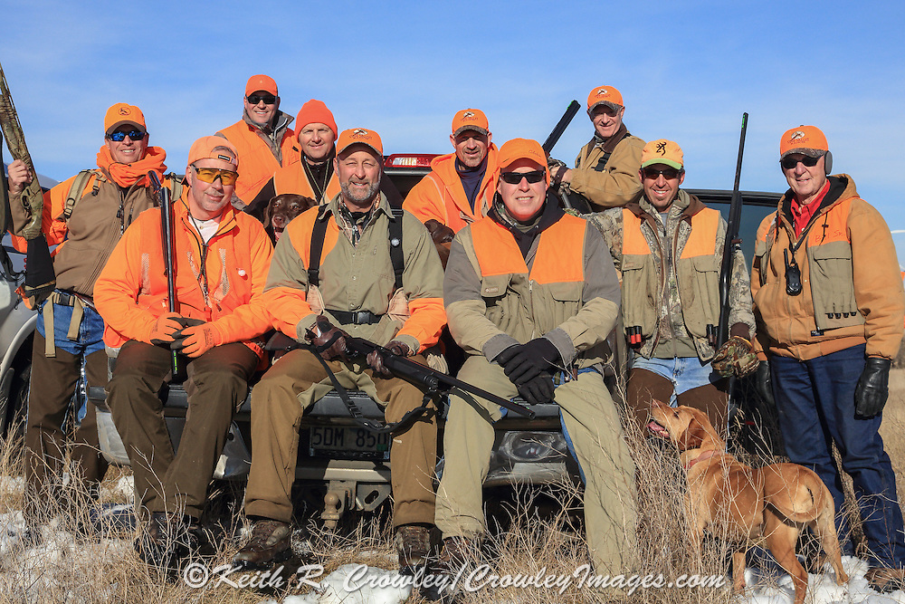 Group of Successful Pheasant Hunters