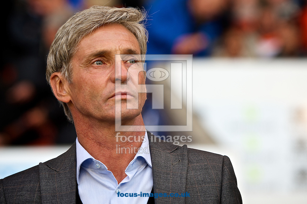 Blackpool manager Jos&eacute; Riga pictured ahead of the Sky Bet Championship match at Bloomfield Road, Blackpool<br /> Picture by Ian Wadkins/Focus Images Ltd +44 7877 568959<br /> 19/08/2014