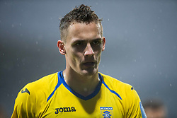 Jure Balkovec of NK Domzale during football match between NK Domzale and NK Krka in Semifinal of Slovenian Football Cup 2016/17, on April 4, 2017 in Sports park Domzale, Slovenia. Photo by Vid Ponikvar / Sportida