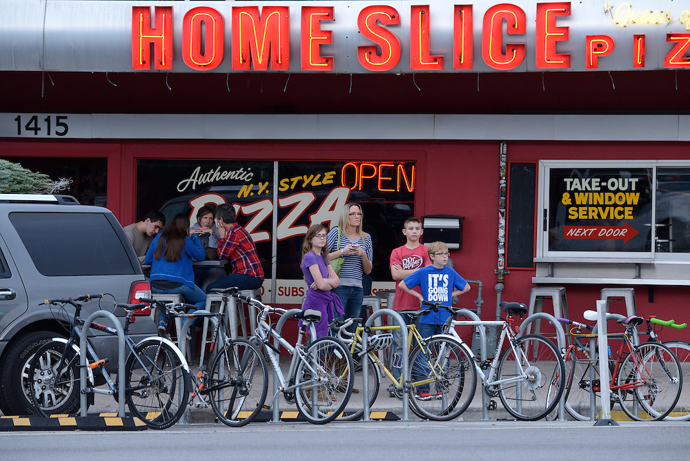 Pizza Place,Congress Street, SOCO,City of Austin, Texas, USA
