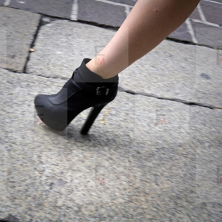 Le scarpe viste durante le settimana della moda..The shoes saw during the Milan fashion Week