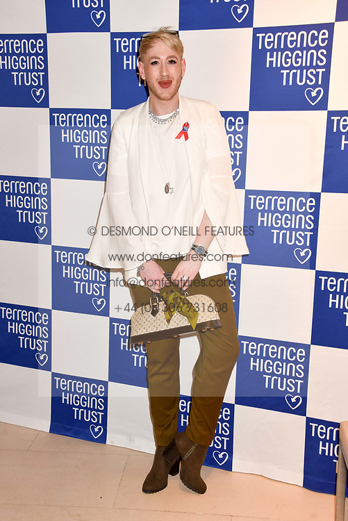 Lewis-Duncan Weedon at the Terence Higgins Trust Auction 2017 at Christie's, 8 King Street, St.James's, London England. 11 April 2017.