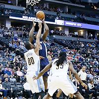 01 February 2016: Memphis Grizzlies forward Zach Randolph (50) goes for the jump shot over Denver Nuggets forward Darrell Arthur (00) during the Memphis Grizzlies 119-99 victory over the Denver Nuggets, at the Pepsi Center, Denver, Colorado, USA.