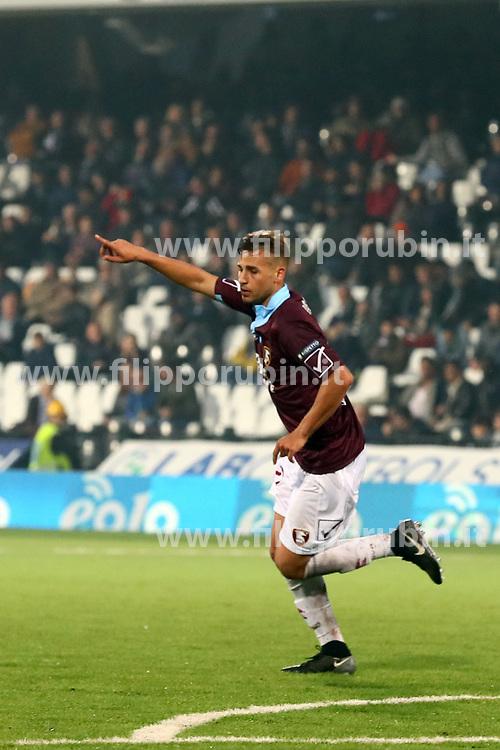 """Foto /Filippo Rubin<br /> 12/11/2017 Cesena (Italia)<br /> Sport Calcio<br /> Cesena - Salernitana - Campionato di calcio Serie B ConTe.it 2017/2018 - Stadio """"Dino Manuzzi""""<br /> Nella foto: TERZO GOAL SALERNITANA MATTEO RICCI<br /> <br /> Photo /Filippo Rubin<br /> November 12, 2017 Cesena (Italy)<br /> Sport Soccer<br /> Cesena - Salernitana - Italian Football Championship League B ConTe.it 2017/2018 - """"Dino Manuzzi"""" Stadium <br /> In the pic: THIRD GOAL SALERNITANA MATTEO RICCI"""