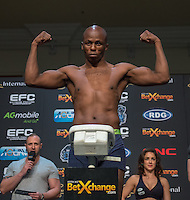 20151006, GRANDWEST, CAPE TOWN, SOUTH AFRICA:  Conrad Seabi - lightweight - during EFC 45 Weigh-in at GrandWest Casino, Cape Town, South Africa. <br /> (Photo by Anton Geyser / EFC Worldwide 2015)