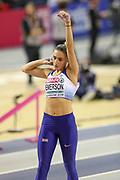 Niamh Emerson (Great Britain), Pentathlon, Shot Put, during the European Athletics Indoor Championships 2019 at Emirates Arena, Glasgow, United Kingdom on 1 March 2019.