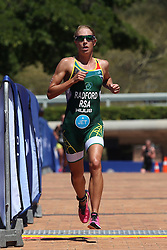 Anel Radford of South Africa during the Elite Women race of the Discovery Triathlon World Cup Cape Town leg held at Green Point in Cape Town, South Africa on the 11th February 2017.<br /> <br /> Photo by Shaun Roy/RealTime Images