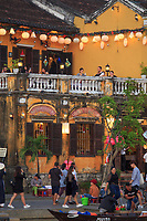 Twilight on Bach Dang Street in the old town of Hoi An, Vietnam