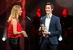 Sanja Modric and Peter Prevc at Slovenian Sports personality of the year 2014 annual awards presented on the base of Slovenian sports reporters, on December 9, 2014 in Cankarjev dom, Ljubljana, Slovenia. Photo by Vid Ponikvar / Sportida