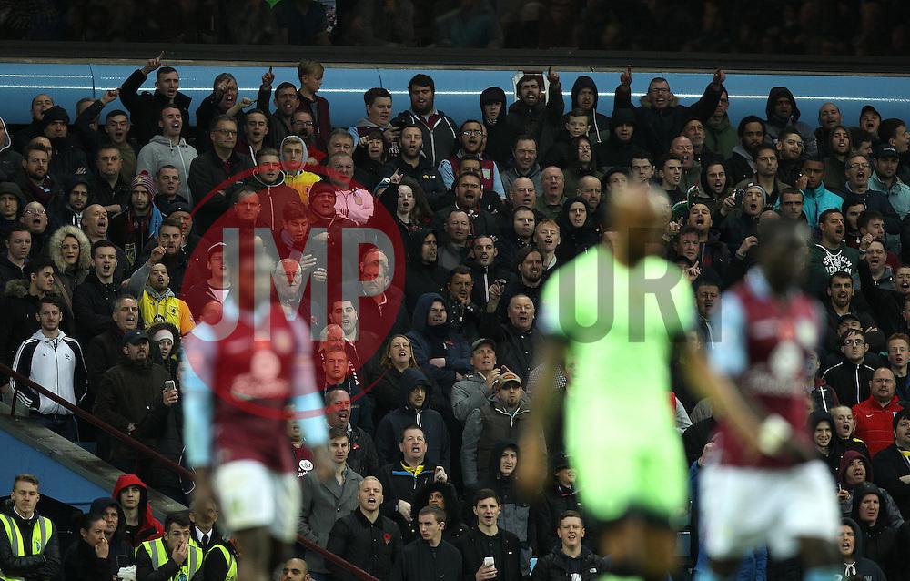 Aston Villa fans taunt Manchester City's Fabian Delph after his move from Aston Villa to Manchester City - Mandatory byline: Robbie Stephenson/JMP - 07966 386802 - 08/11/2015 - FOOTBALL - Villa Park - Birmingham, England - Aston Villa v Manchester City - Barclays Premier League