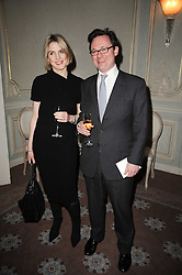 VISCOUNT & VISCOUNTESS DUNLUCE at a party to celebrate Penguin's reissue of Nancy Mitford's 'Wigs on The Green' hosted by Tatler at Claridge's, Brook Street, London on 10th March 2010.