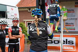 Rider of Orica - AIS walking to the podium for the sign-on at the Holland Ladies Tour, Zeddam, Gelderland, The Netherlands, 1 September 2015.<br /> Photo: Pim Nijland / PelotonPhotos.com