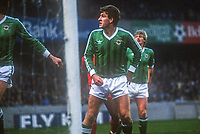 Norman Whiteside, footballer, Manchester United & N Ireland, April, 1986, 19860410NW2<br />