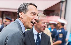 28.07.2016, Residenzplatz, Salzburg, AUT, Salzburger Festspiele, Eroeffnungsakt, im Bild Bundeskanzler Christian Kern (SPOe), Salzburgs Landeshauptmann Wilfried Haslauer (OeVP) // Federal chancellor Christian Kern (SPOe), Governor of Salzburg Wilfried Haslauer (OeVP) during the Opening Ceremony of the Salzburg Festival, it takes place from 22 July to 31 August 2016, at the Residenzplatz in Salzburg, Austria on 2016/07/28. EXPA Pictures © 2016, PhotoCredit: EXPA/ JFK