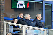Everton striker Wayne Rooney (10) watches on from the executive box during the Europa League match between Everton and Olympique Lyonnais at Goodison Park, Liverpool, England on 19 October 2017. Photo by Craig Galloway.
