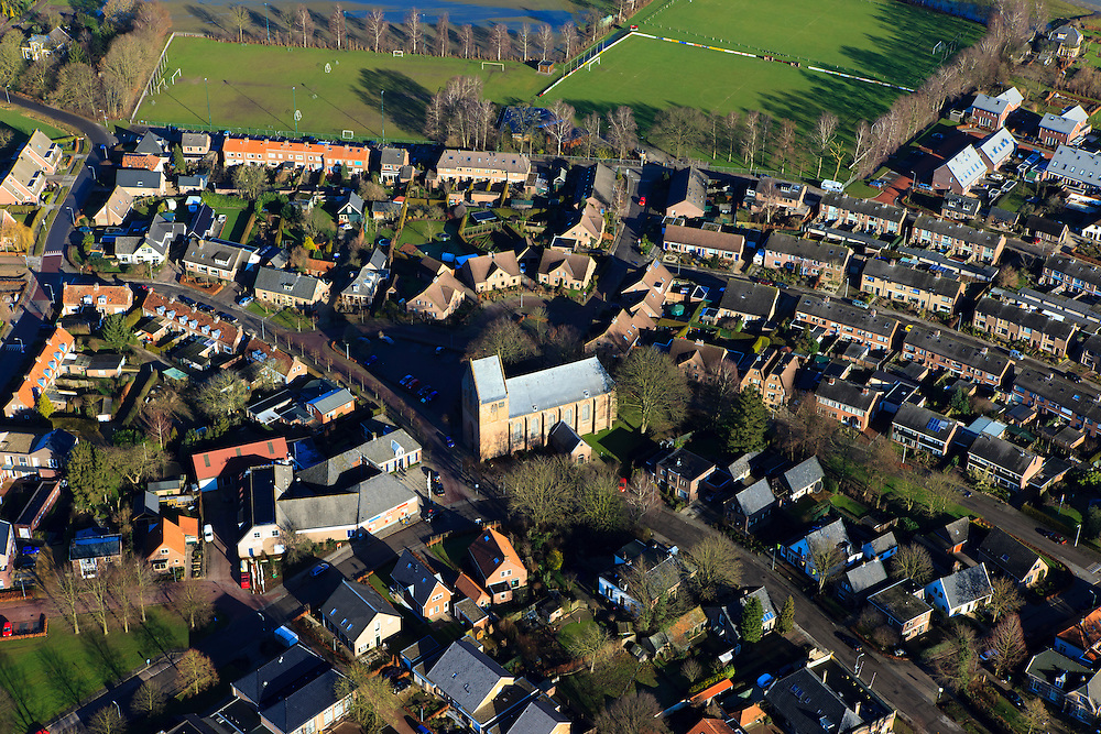 Nederland, Gelderland, Gemeente Voorst, 20-01-2011; Terwolde, dorpskern..The center of the village of Terwolde..luchtfoto (toeslag), aerial photo (additional fee required).copyright foto/photo Siebe Swart