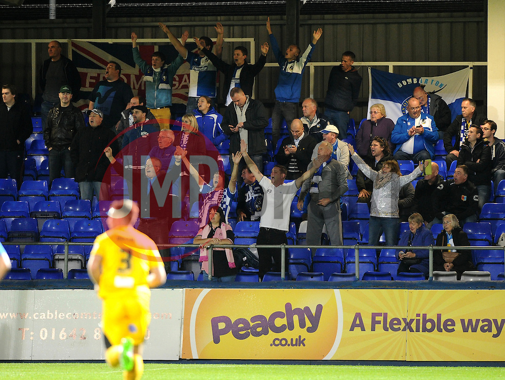 Bristol rovers fans celebrate  - Mandatory byline: Joe Meredith/JMP - 07966 386802 - 29/09/2015 - FOOTBALL - Victoria Park - Hartlepool, England - Hartlepool United v Bristol Rovers - Sky Bet League Two