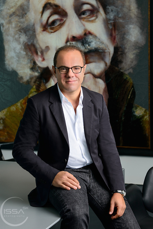 portrait, CEO, Omnicom, Media Group, Elie Khoury, office, interview, editorial portrait, professional portrait