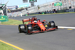 March 15, 2019 - SEBASTIAN VETTEL during Friday Practice at the Australian Formula 1 Grand Prix in Melbourne on March 15, 2019  (Credit Image: © Christopher Khoury/Australian Press Agency via ZUMA  Wire)