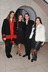 Left to right, Sean Souza, Alexia Niedzielski, Anthony Souza and Fernanda Abdullah at a private view of 'Valentino: Master Of Couture' at Somerset House, London on 28th November 2012.