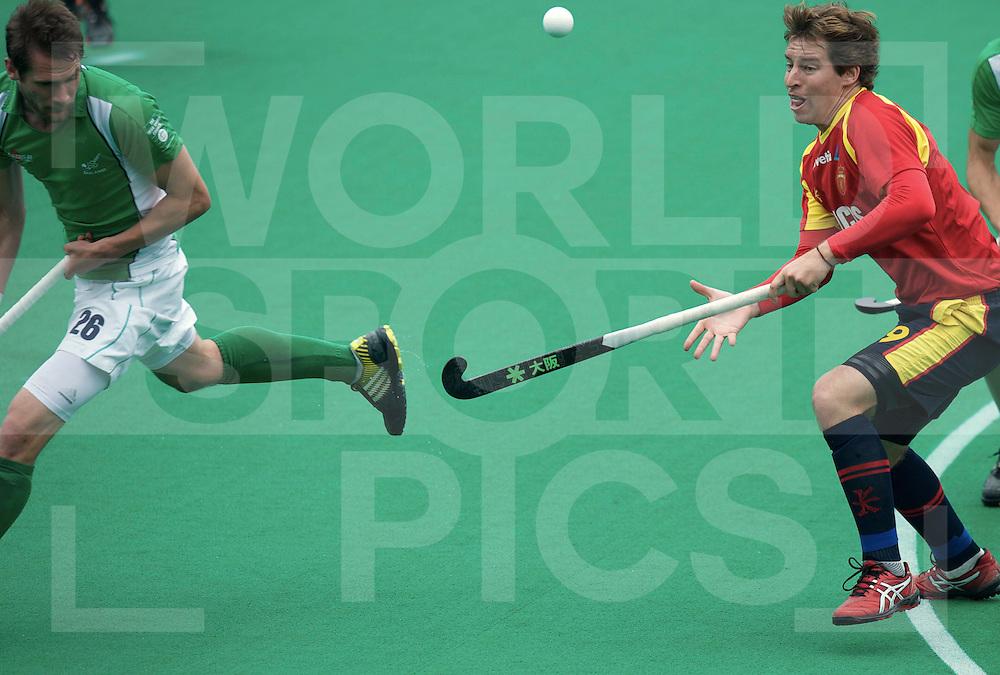 ROTTERDAM - Hock World League Semi Final Men<br /> Ireland v Spain<br /> foto: PADROS Roger.<br /> FFU PRESS AGENCY COPYRIGHT FRANK UIJLENBROEK